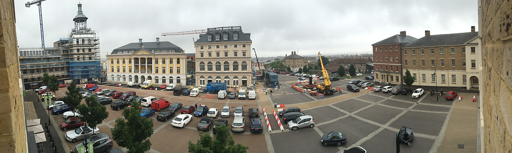 A view of Queen Mother Square, Poundbury