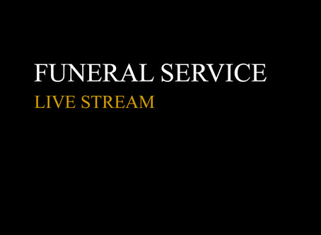 Graphics for Live Streaming funeral service....