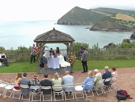Devon coastal wedding