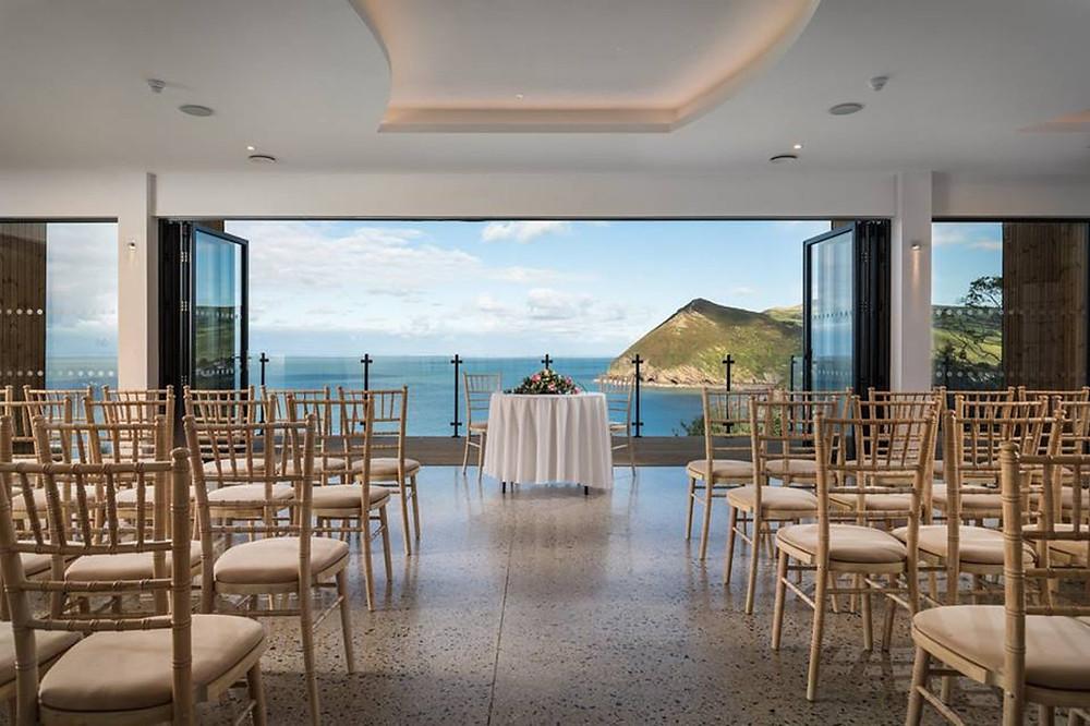 wedding live streaming at Sandy Cove Hotel, Devon