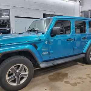 Jeep Wrangler Factory Privacy Glass upgrade, Privacy tint, heat blocking, Glare Blocking in Seaford