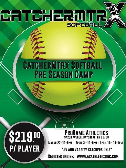 CatcherMtrx Softball Pre-Season Camp