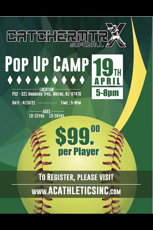 CatcherMtrx Softball PopUp Camp NJ