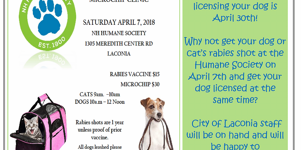 NH Humane Society Rabies Clinic