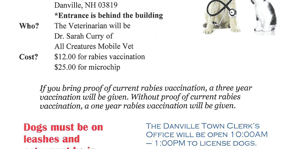 Danville NH Rabies Clinic