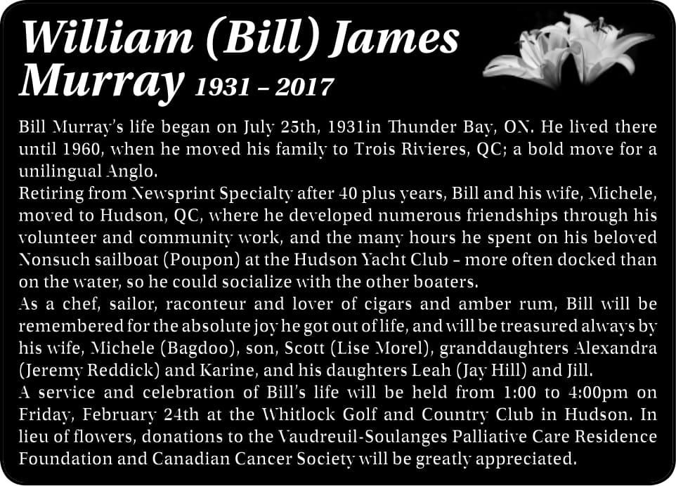 William (Bill) James Murray