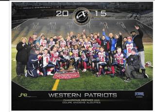 Île Perrot Patriots win Coupe Alouettes Provincial Cup