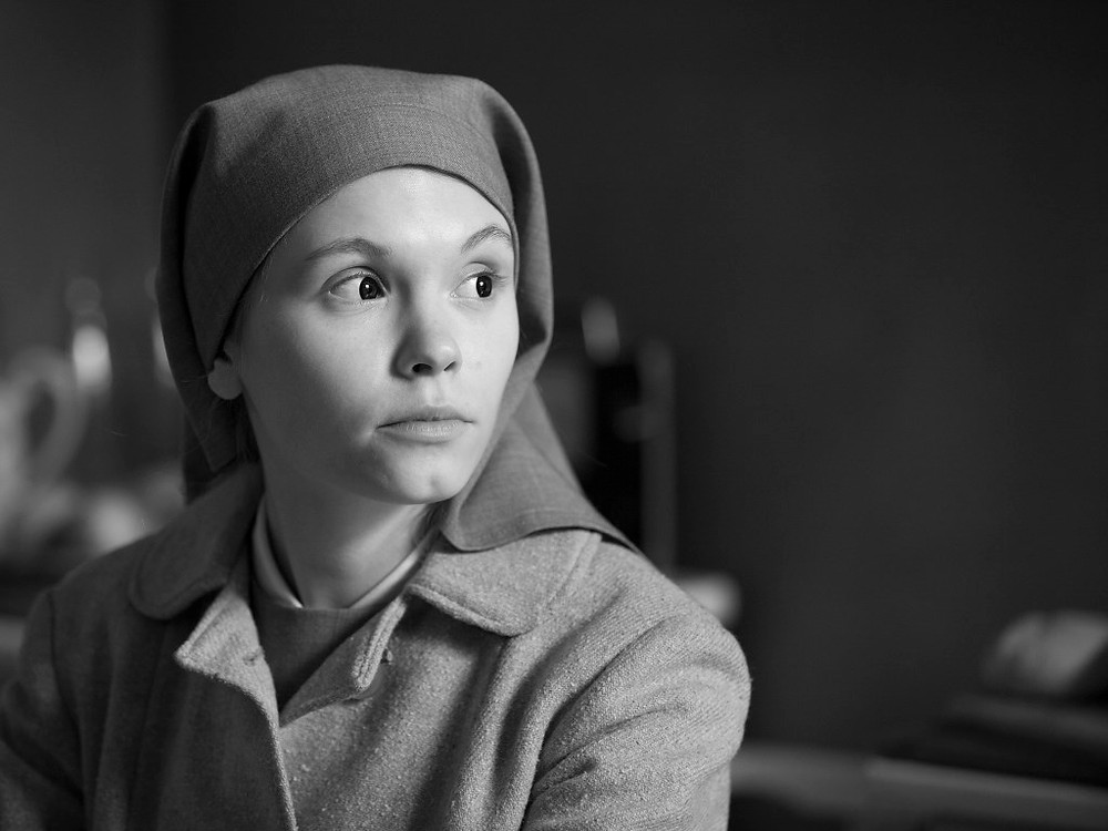 PHOTO  COURTESY HUDSON FILM SOCIETY Polish actress Agata Trzebuchowska stars in Ida, a moving drama about a young novitiate nun in 1960s Poland who, on the verge of taking her vows, discovers a dark family secret dating from the terrible years of the Nazi occupation.