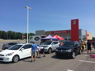 Car wash fundraiser for Les Amis de Lise a great success