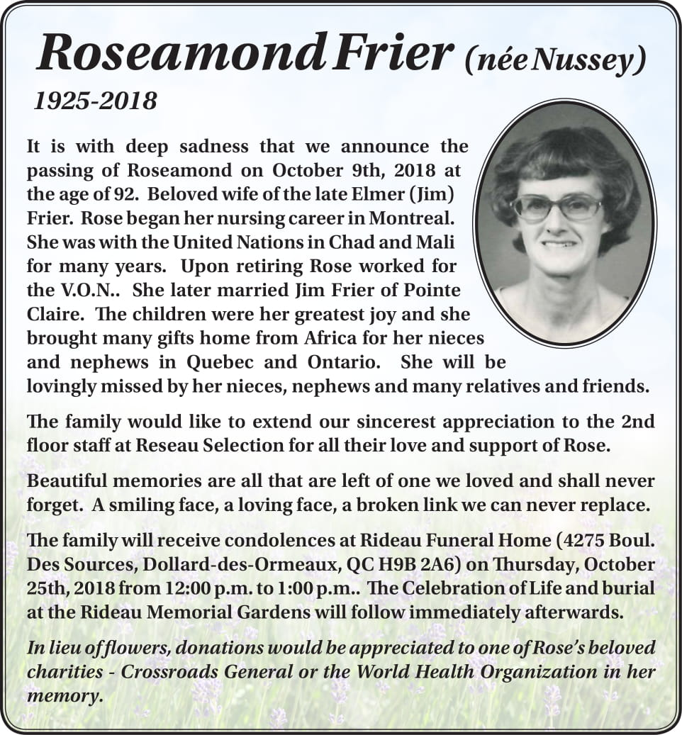 Roseamond Frier
