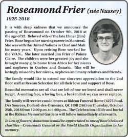 Roseamond Frier