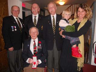 Legion of Honour medal presented to Hudsonite and D-Day veteran Peter Hughes