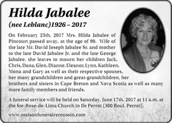 Hilda LeBlanc Jabalee