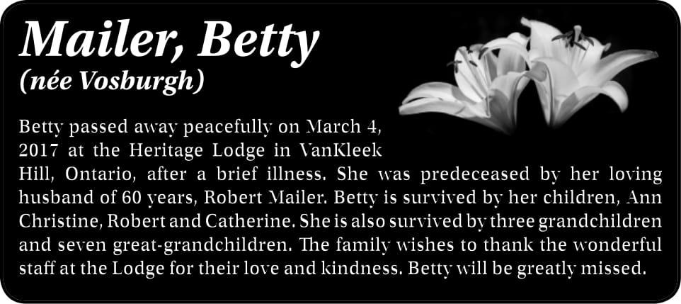 Betty Mailer