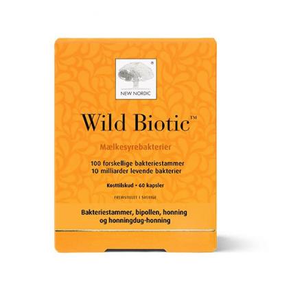 Mælkesyrebakterier Wild Biotics – kapsler 60 stk