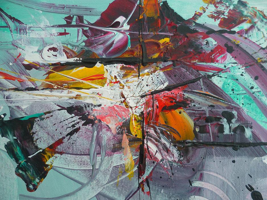 Art Abstrait - Anaëlle Alcoulombre - Peinture acrylique