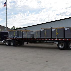 commercia units loaded on semi