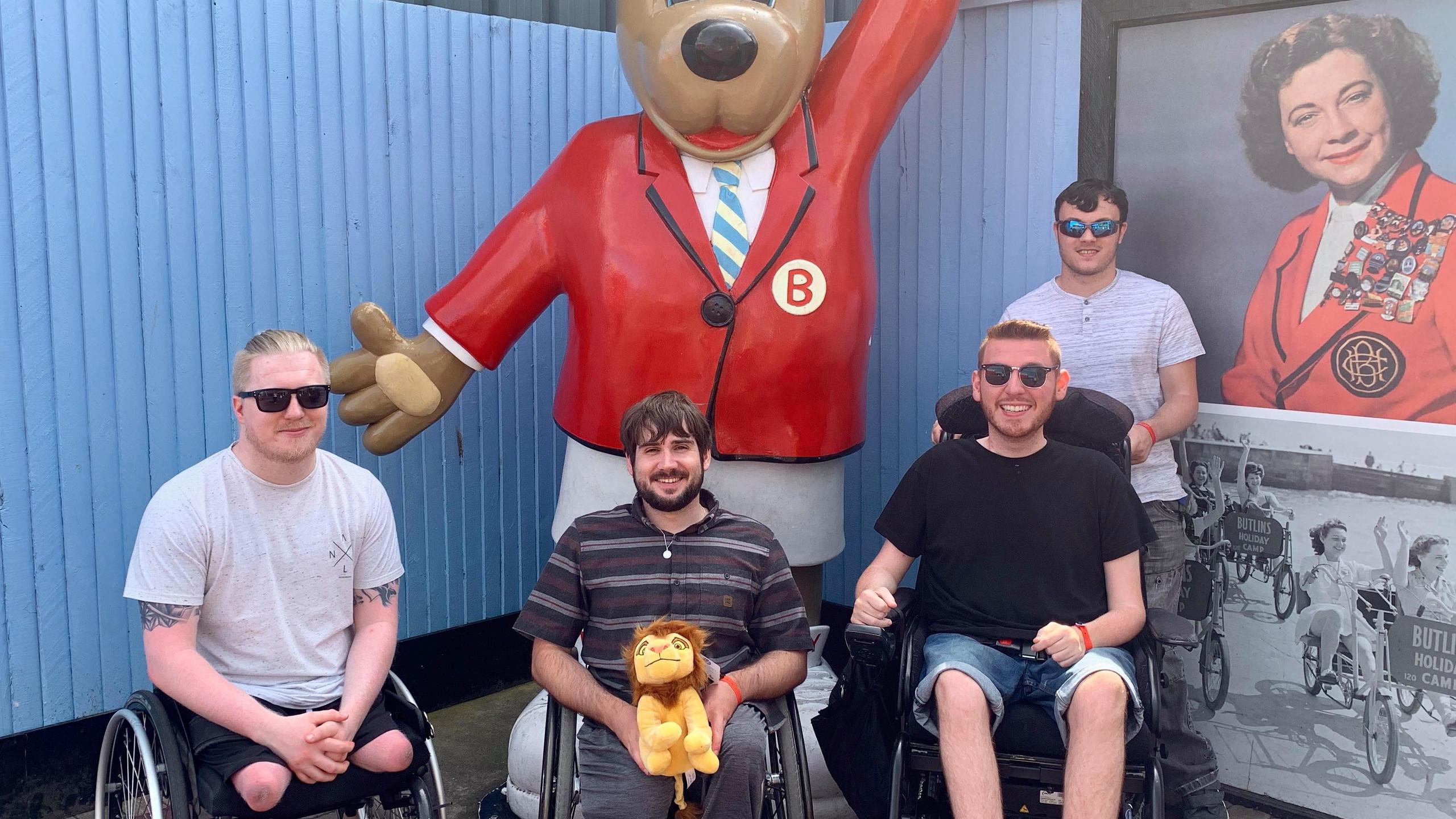 The boys with Billy Butlin
