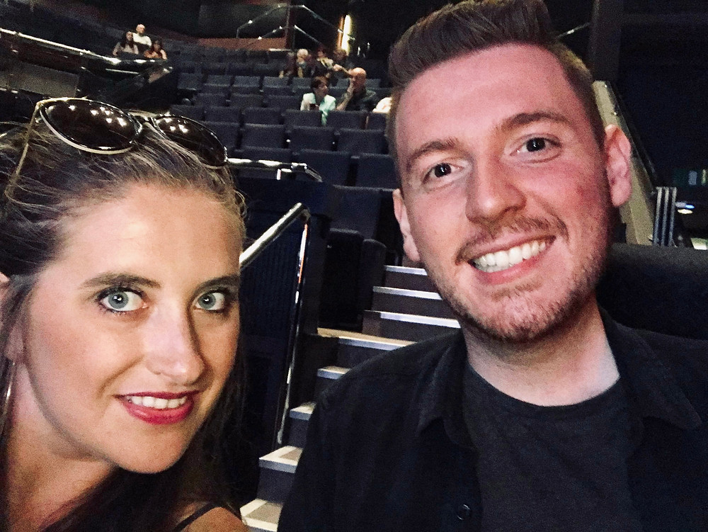 A selfie inside the theatre of Ross & Sophie