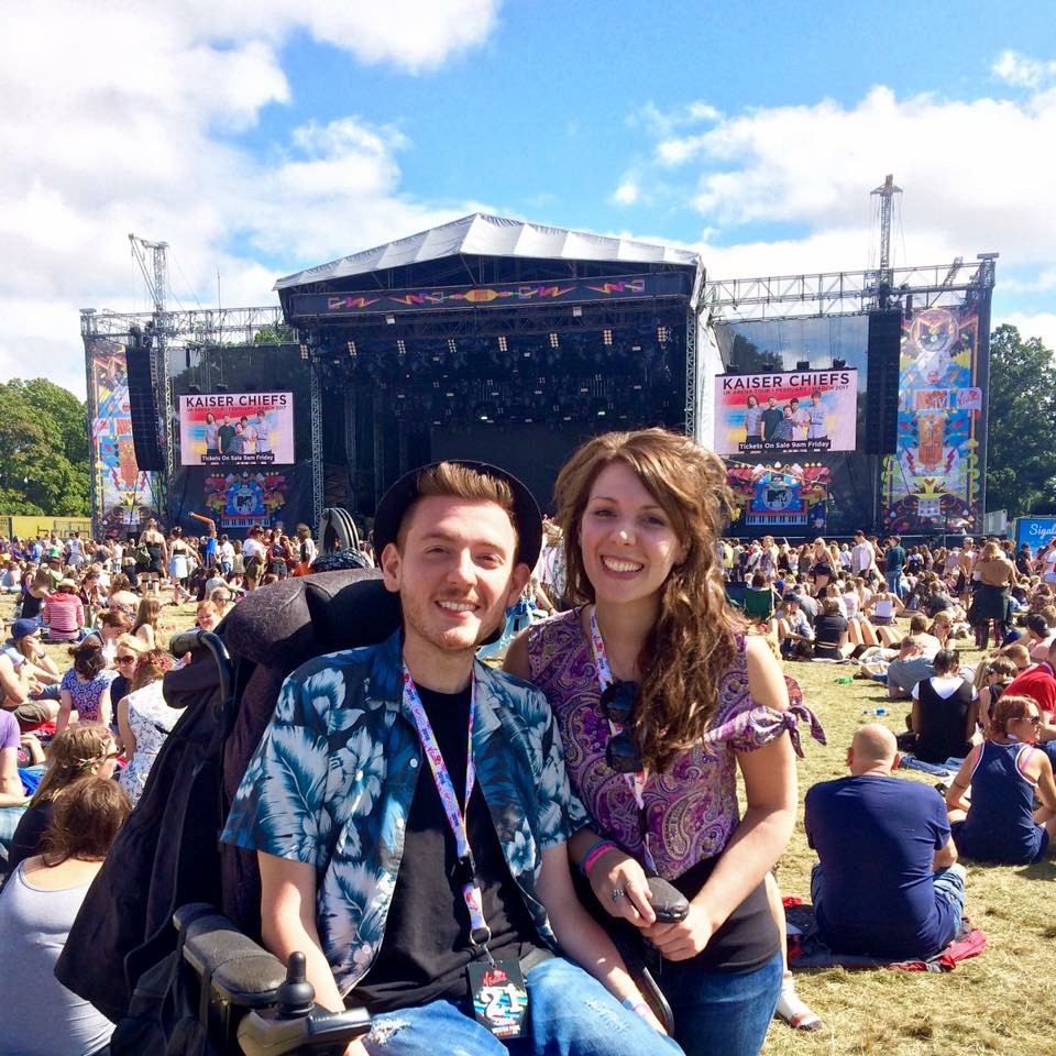 Ross and his sister in the crowds at V Festival