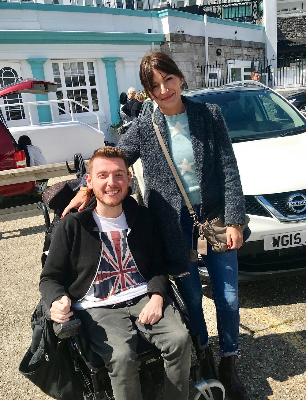Ross with Davina McCall