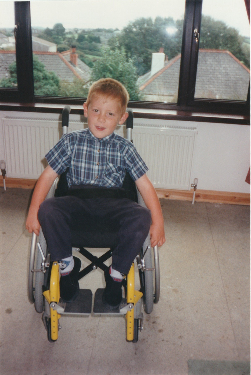 My very first wheelchair