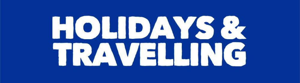 Header with the text: Holidays and travelling