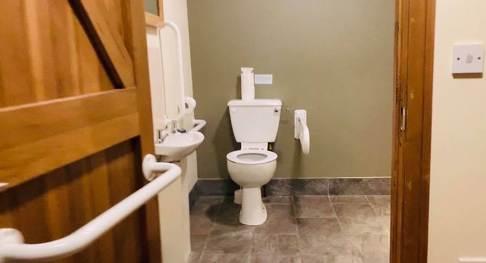 Large bathroom and toilet