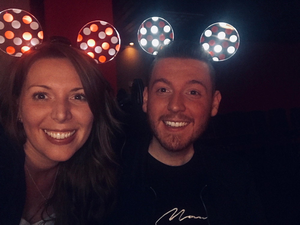 A selfie with Ross & Rose with their light up ears on their head