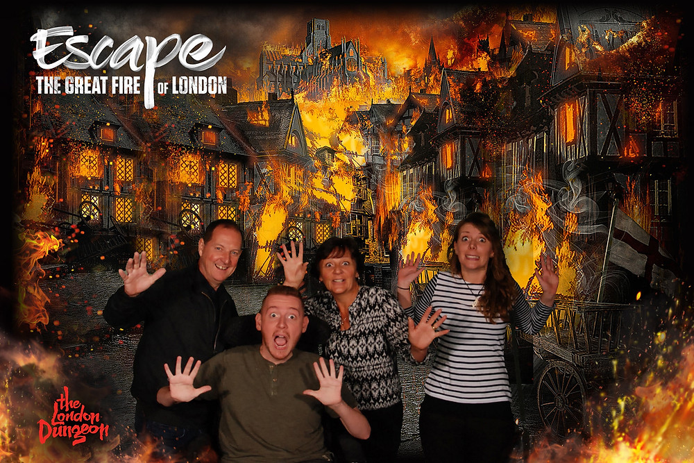 "The Lannon family green screen: ""The Great Fire of London"""