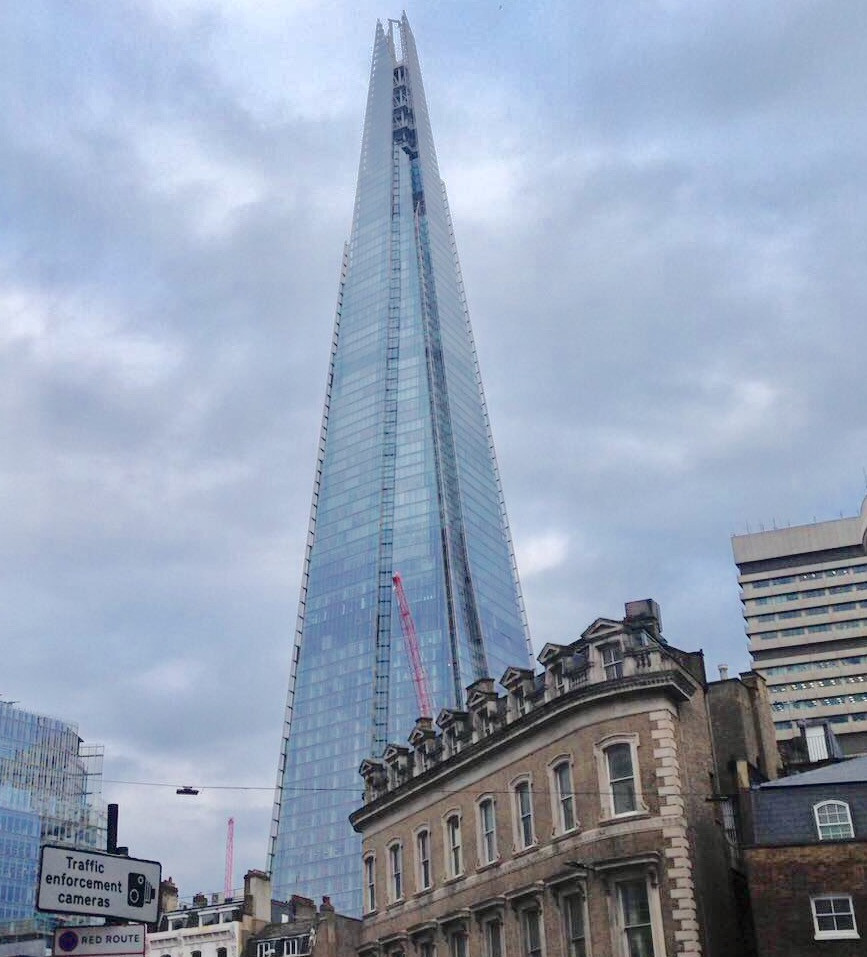 The Shard building from the outside