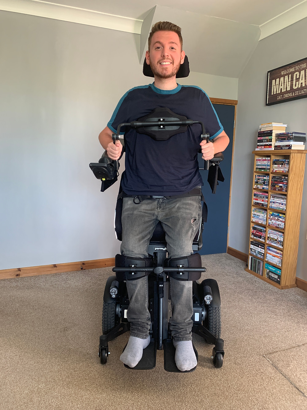 Ross stood in the f5 vs power chair
