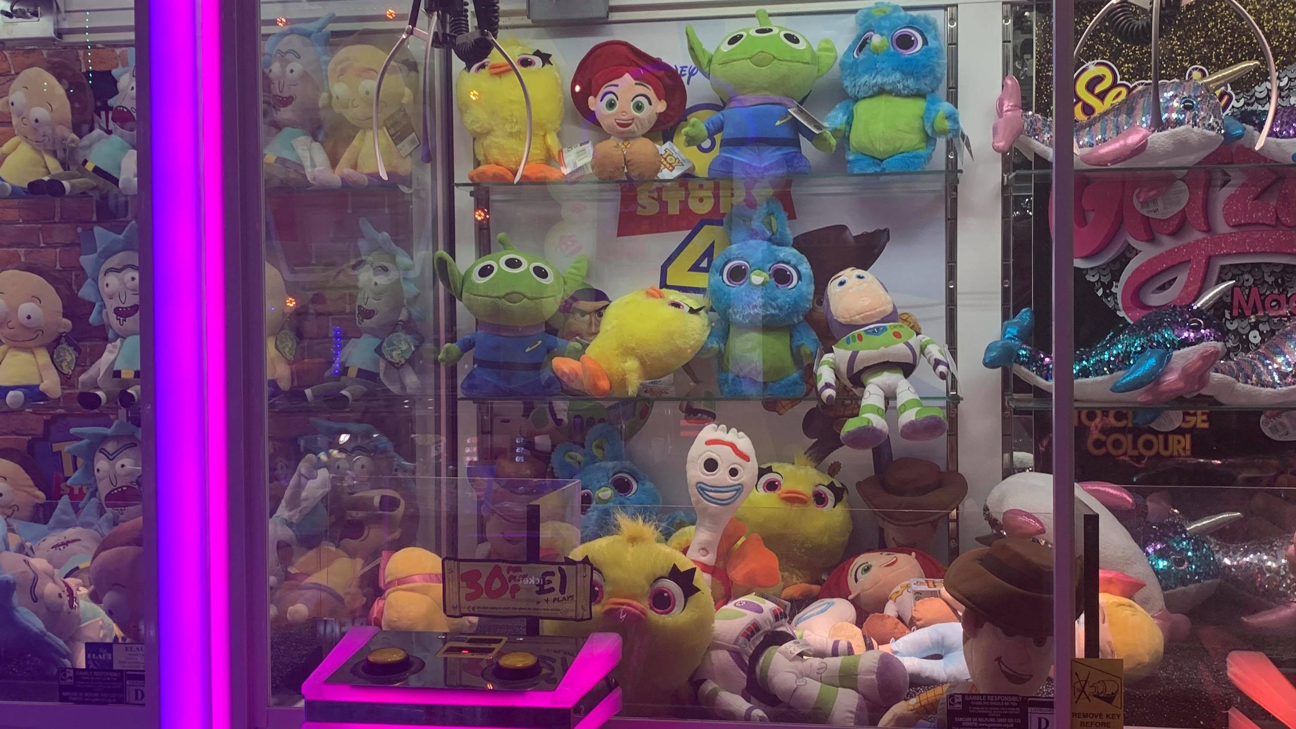 Toy Story claw machine