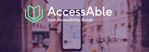 """The AccessAble logo - """"your accessibility guide"""""""