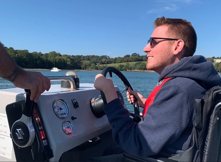 Driving an Accessible Powerboat!