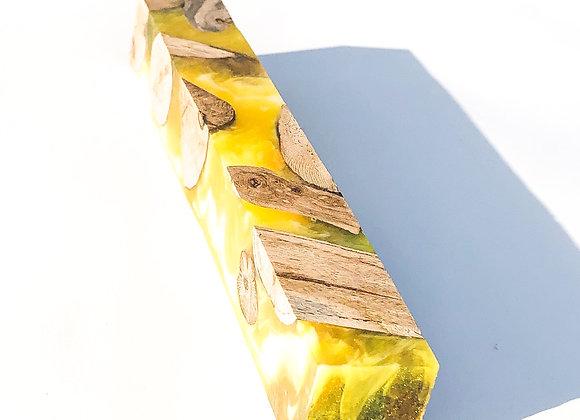 Bloc à crayon hybride-cep de vigne-blanc et jaune