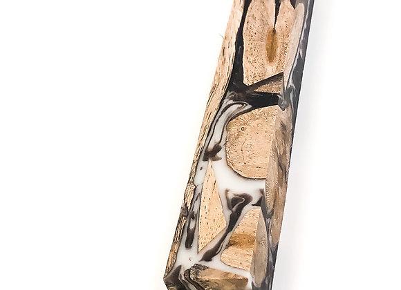 Bloc à crayon résine et bois de vigne brun
