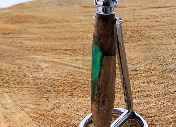 Rasoir «safety» résine bois de vigne-vert