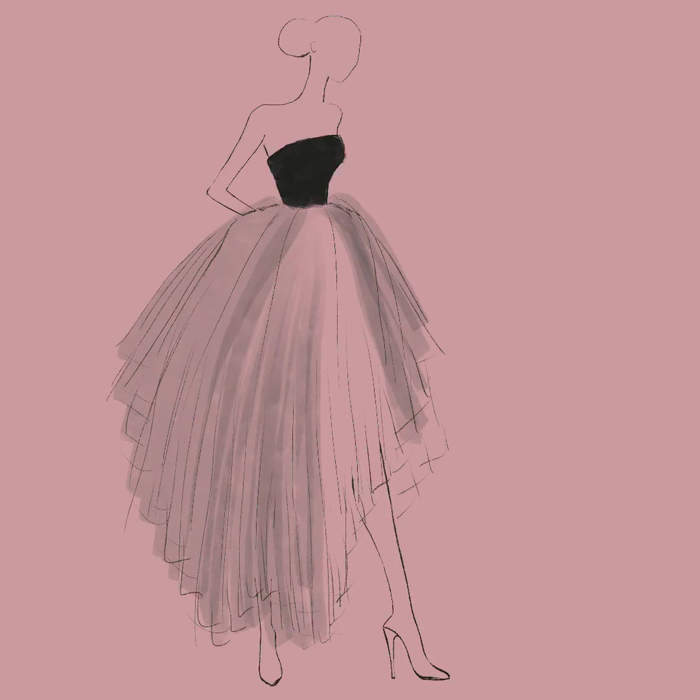 Dior tulle