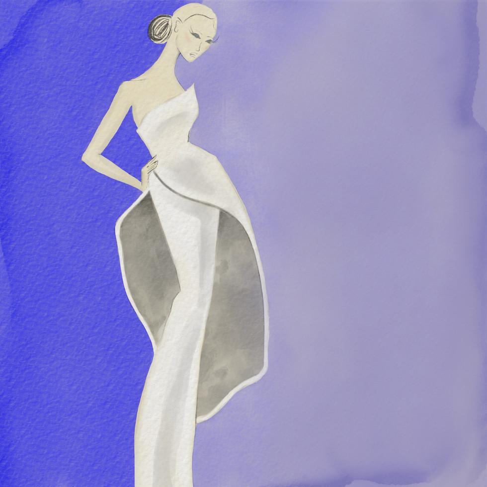 Dior Peplum Watercolor