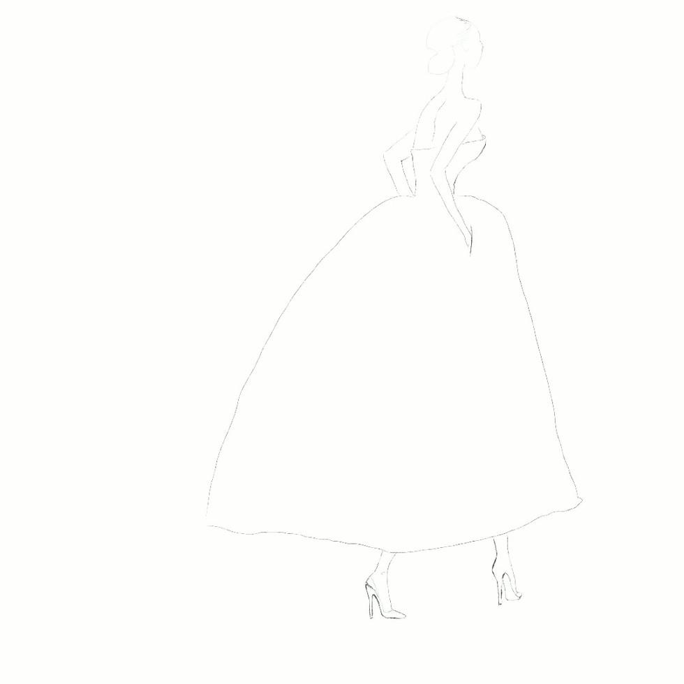 Dior dress back