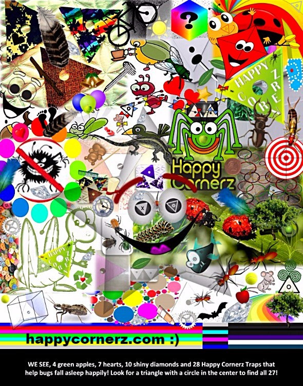 WE SEE Happy Cornerz! The New Search Game to Discover Cool Hidden Items In A Maze of Images and Challenging Designs! It's The New Trend for Any Age Brought To You By HappyCornerz.Com