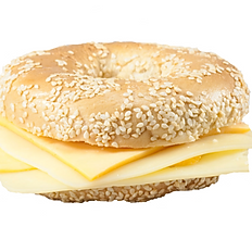 Bagel with Sliced Cheese