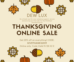 Yellow and Brown Thanksgiving Sale Faceb