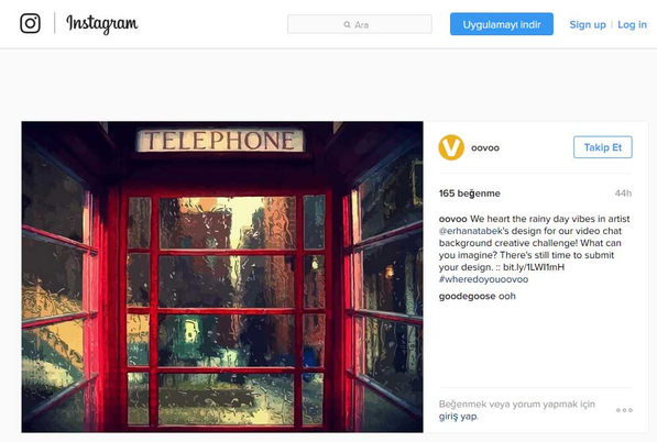ooVoo Instagram Paylaşımı