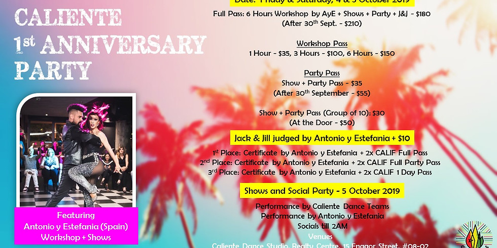 Caliente Anniversary Party