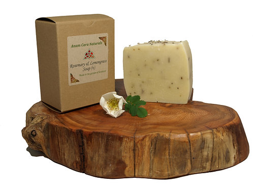 Rosemary and Lemongrass Soap (7.5 x 6.5 cm)