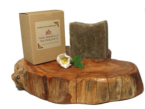Nettle and Bergamont Soap (7.5 x 6.5 cm)