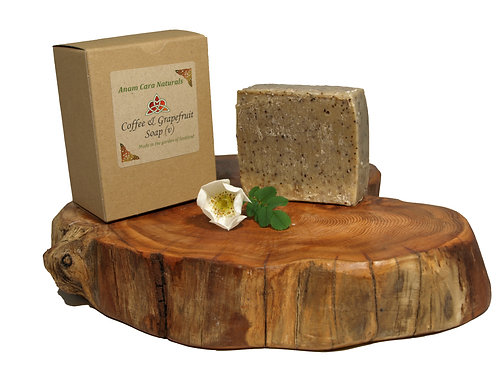 Coffee & Grapefruit Soap (7.5 x 6.5 cm)