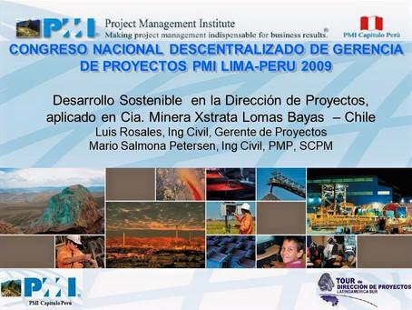Presentación en Lima, Perú, 22 -10-2009.
